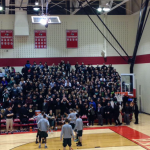 Two buses of students wore black to support the team. Kyle Fiorelli photo