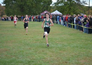 Zack Forney in the middle of his race